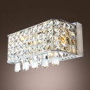 Add Divine Radiance to Your Bathroom with Splendid Crystal Wall Light Fixture.