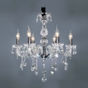 Glittering Clear Crystal Droplets Cascades 8-Light 23.6