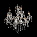 Clear Crystal Arms Dizzying Crystal Strands and Drops Traditional Chandelier