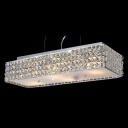 Chic and Stunning Contemporary Island Pendant Light Finished in Chrome with Mini Beaded Crystals