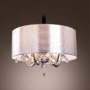 Sleek and Charming Stripe Shade 5-Light  Shinning Crystal Diamonds Large Pendant Chandelier
