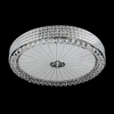 Stunning Hand Cut Crystals and Chrome Finished Round Contemporary Flush Mount