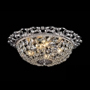 Jeweled Crystal Beaded Basket 2-Light 11