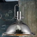 Nautical Style 1 Light 15.75'' Wide Frosted Glass Indoor Lighting Pendant