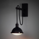 Industrial Iron Wall Light Black Finish 1 Light Wall Suspender for Warehouse Barn
