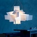 Deisgner Lighting White Acrylic Novel Chandelier Pendant Light