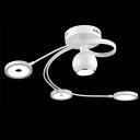 All White Color Modern LED 3+1-light Close to Ceiling Light