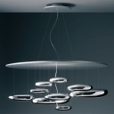Mercury Designer Sliver Colored Ceiling Light in 43.3