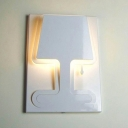 Mysterious Shadow Wall Lights in Modern White Finished and Designer Style