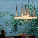 Glittering Clear Glass Cone Designer Eight Lights Multi-Light Pendant Light