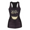 Women's Cheshire Cat Vest Print Fashion Tank Top