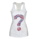 Question Mark Print White Tanks
