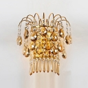 Graceful Scrolling add Charm to Gorgeous Clear Crystal Wall Sconce