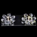 Beautiful Flowers Design Add Charm to Delightful Double Light Wall Sconce for your Barthroom