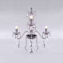 Chandelier Features Hand-formed Crystal Arms and Finely Cut Crystal Adds Extra touch of Glamour to Your Decor