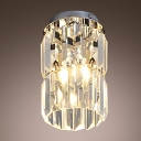 Delicate Crystal and Chrome Finish Complete Magnificent Semi-flushmount Ceiling Light