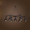 7 Lights Large LED Chandelier in Antique Loft Design