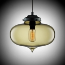 LOFT Industria Oval Colored Glass l Mini Pendant Light