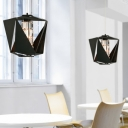 Metal Made Diamond Close to Ceiling Light in White