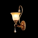 Elegant and Classic Crystal Droplets Add Glamour to Stunning Wall Sconce with Etched Details