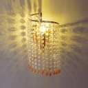 Polished Chrome Finsh Crystal Wall Sconce Offers Dramatic Addition to Your Decor