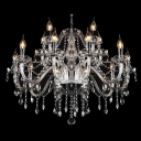 Large Brilliant and Sparkling 12-Light Traditional Double-Tiered Candle Lights Chandelier