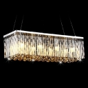 27'' Wide Pendant Chandelier Adorned with Graceful Crystal Bar and Gleaming Polished Finish