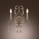 Elegant Scrolls and Classic Candelabra Style Create Timeless Look in Two-light Wall Sconce