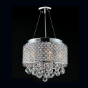 Criss-Cross Cut Metal Drum Shade 15.7