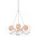 Cluster Inner Glass Ball Multi-Light Pendant 7-Light
