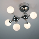 DNA Chrome Flush Mount Ceiling Light Five-light