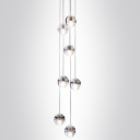 Cascade Glass Ball Pendant Light 7-Light