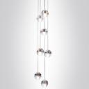 Cascade Glass Ball Pendant Light 7-Light