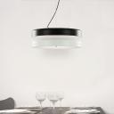 "LED 14.9""Wide Two Tiers Brilliant Designer Pendant Light"