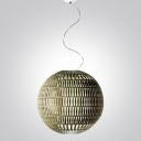 Wide Round Ball Shaped Designer Large Pendant Lighting 15.3""