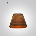 Bold Design And Natural Corrugated Paper Designer Large Pendant Lighting