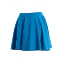 Blue Ladylike A-line Short Skirt