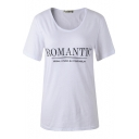 Black Romantic Embroidered White Short Sleeve T-Shirt