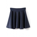 Ruffle Hem Fitted High Waist Skirt