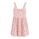 Wild Chrysanthemum Print A-line Slip Dress