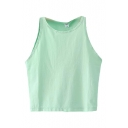 Mint Green Fresh Style Crop Tanks