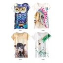 Unique Animal Short Sleeve Tunic T-Shirt