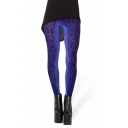 Velvet Geometric Pattern Print Leggings