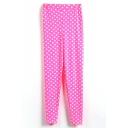 Pink Background White Polka Dot Leggings