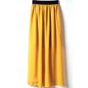 Ginger Elastic Waist Chiffon Maxi Skirt