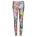 Newly Cartoon Print Skinny Fitted Leggings