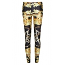 Summer Newly High Waist Print Fitted Skinny Leggings