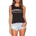 Black Tanks with Whiskey Print