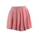 Pink Ladylike A-line Short Skirt