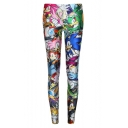 Cartoon Character Print Elastic Skinny Leggings